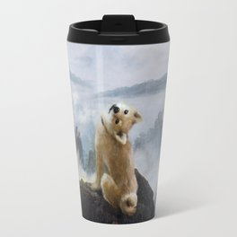 The Wanderer Above the Sea of Doge Travel Mug