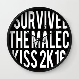 I Survived the Malec Kiss Wall Clock