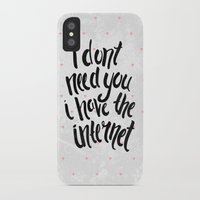 internet iPhone & iPod Cases featuring Internet by Alex McBain