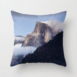 Half Dome With Fresh Snow Yosemite  1-22-18 Throw Pillow