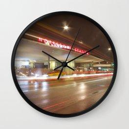 Norreport at night 2 Copenhagen Wall Clock