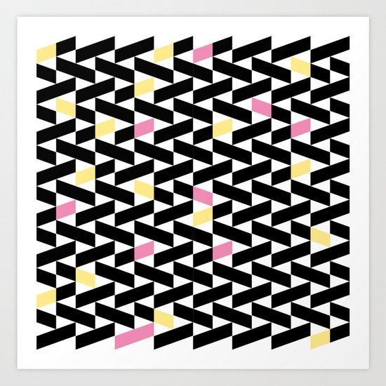 Black Pattern  Art Print