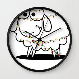 Christmas Baaa Humbug Sheep Gift Wall Clock
