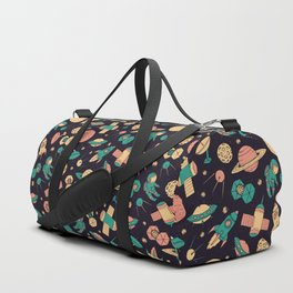 Retro Space Pattern Duffle Bag