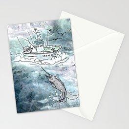 Fishing swordfish Stationery Cards