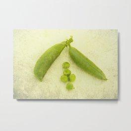 Sugar peas Metal Print