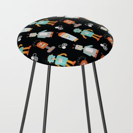 Mr. Roboto Black Counter Stool