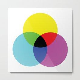 Trio Colour Synthesis Metal Print