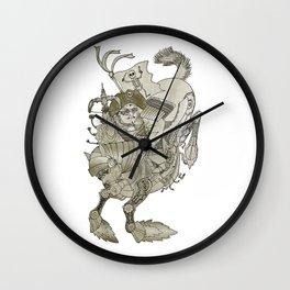 Steampunk pirate samu Wall Clock