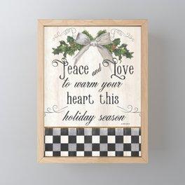 Farmhouse Christmas Sentiment 2 Framed Mini Art Print