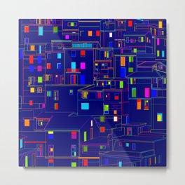 Blue City - Manarola, Italy Metal Print