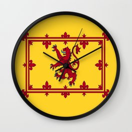 RED LION & YELLOW ROYAL BANNER OF SCOTLAND Wall Clock