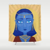 et Shower Curtains featuring ET by Mille Kurowsky