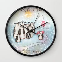 weird Wall Clocks featuring Weird by Tatiana Ivchenkova