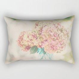 Dreamy Autumn Hydrangea Flowers Still Life Rectangular Pillow