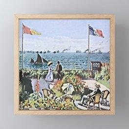 Monet's Garden at Sainte-Adresse - Der Roj study Framed Mini Art Print