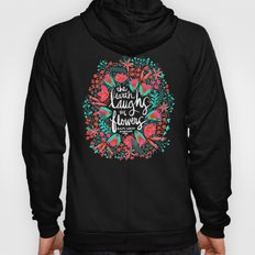 The Earth Laughs in Flowers – Pink & Charcoal Hoody