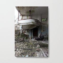 The abandoned Cinema Metal Print