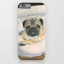 Pug and His Bed iPhone Case