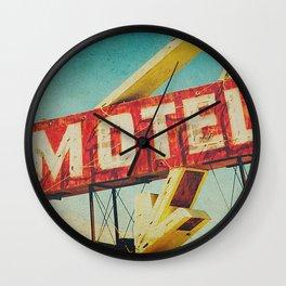 Thrashed Motel Sign Wall Clock
