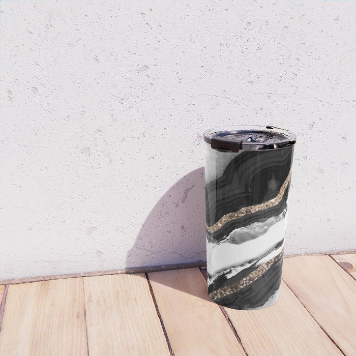 Agate Glitter Glam #2 #gem #decor #art #society6 Travel Mug