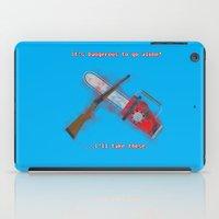 evil dead iPad Cases featuring Evil Dead: It's Dangerous to go alone! by FuManChou