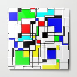 Homage to Piet Mondrian Metal Print