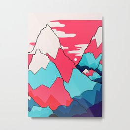 The red and blue peaks Metal Print