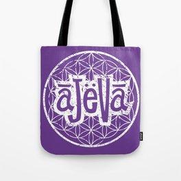 Ajeva Logo Purple Tote Bag
