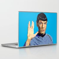 spock Laptop & iPad Skins featuring Spock by Connor Corbett