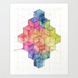 Transitional Rainbow Art Print
