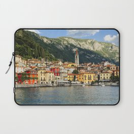 View of a Town on Lake Como, Varenna, Lombardy, Italy Laptop Sleeve