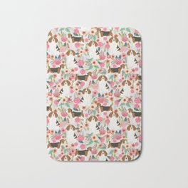 Beagle dog florals dog breed pattern must have cute gifts for pure bred dogs Bath Mat
