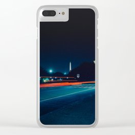 Iconic Washington D.C. Memorials At Night Clear iPhone Case