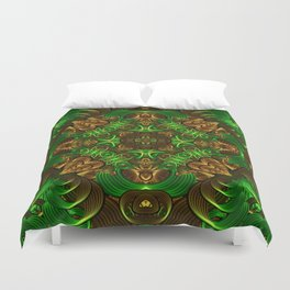Emerald Path Mandala Duvet Cover