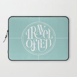 Travel with Teal Laptop Sleeve