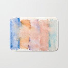 141217 Abstract Watercolor 9 Bath Mat