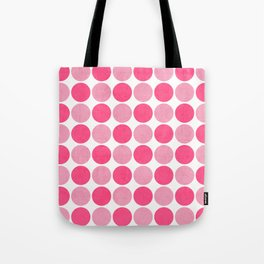 the pink dots Tote Bag