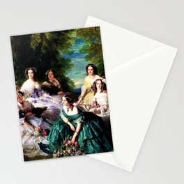 """Franz Xaver Winterhalter's masterpiece """"The Empress Eugenie surrounded by her Ladies in waiting"""" Stationery Cards"""