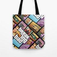 gta Tote Bags featuring Breaking Bad: GTA  by Messypandas