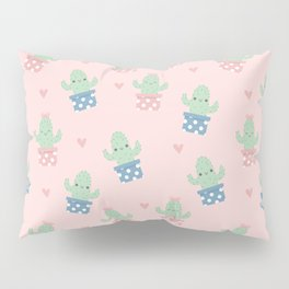 Happy cactus pattern Pillow Sham
