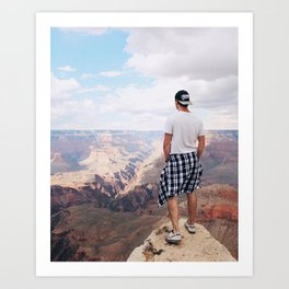 Grand Canyon & Me Art Print