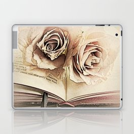 Roses on Book Library Art A113 Laptop & iPad Skin