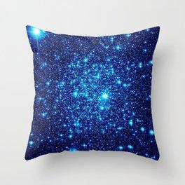 Vivid Blue gALaxY Stars Throw Pillow