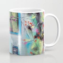 Anapa. Seaside town in bloom. Hot summer day. Pastel drawing Coffee Mug