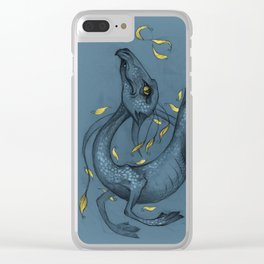 Lucky Blue dragon Clear iPhone Case