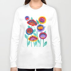 raw flower garden Long Sleeve T-shirt