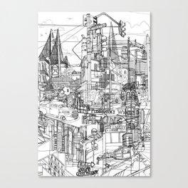 San Francisco! (B&W) Canvas Print