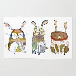 Rabbits Rug