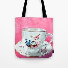 Bird on Teacup Tote Bag